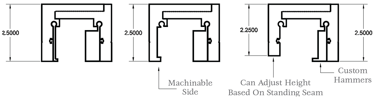 Adjustable Width and Height Universal Clamps