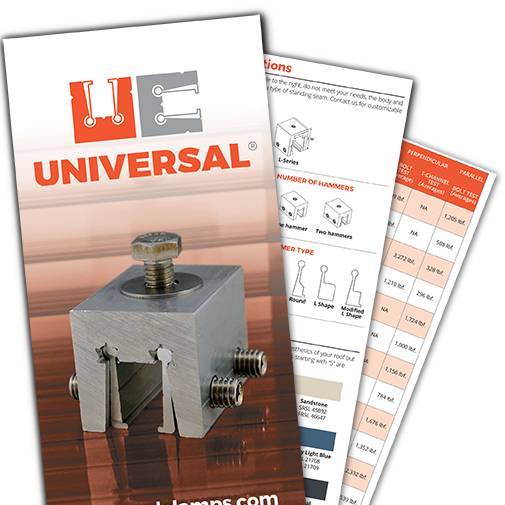 Universal Clamps brochure for slider
